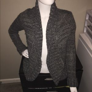 Express Grey Wool Cardigan